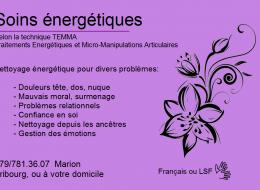 Soins Energétiques – Marion Jordan